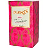 Pukka Organic Love Herbal Tea - 20 bags per pack - 6 packs per case.
