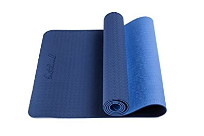 BestsharedPlus Non-Slip PVC-Free 6 mm Light Weight, Two Layer TPE Yoga Mat, 2.4 lbs., 72'' H