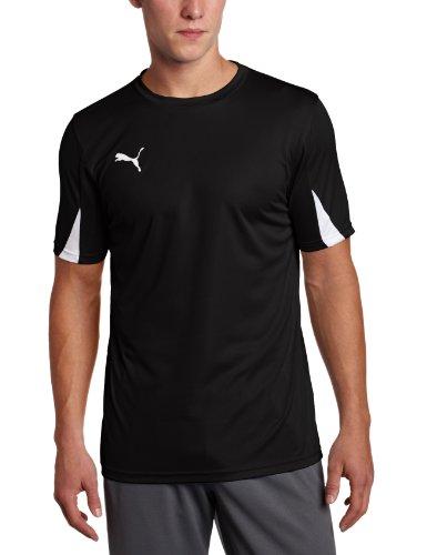 Practice Black T-shirt Youth (Puma Men's Team Shirts, Youth Medium, Black-White)