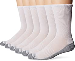 Fruit of the Loom mens Crew 6 Pack Sock