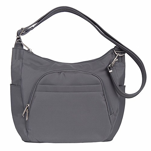 Travelon Anti-Theft Classic Crossbody Bucket Bag (One Size, DARK GREY)