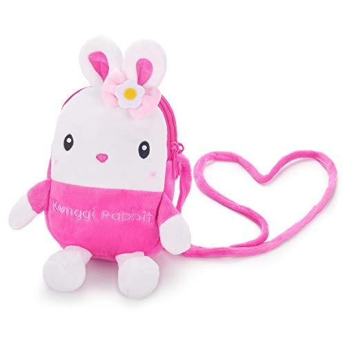 Gloveleya Kids Bunny Purse Rabbit Crossbody Bag Girls Coin Wallet Mini Shoulder Satchel Handbags ...