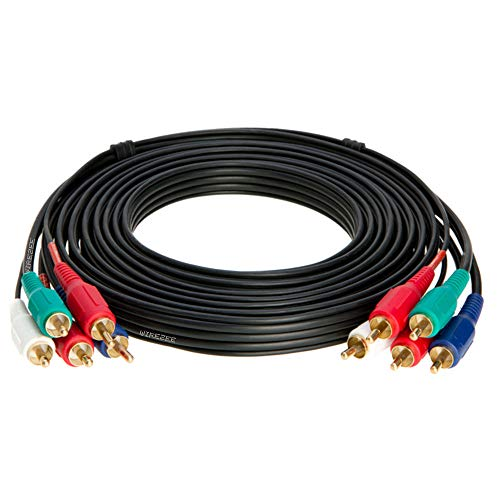 - 5RCA Male Component Video/Audio Cable, Gold Plated 3ft, 6ft, 12ft, 25ft, 50ft (12FT)