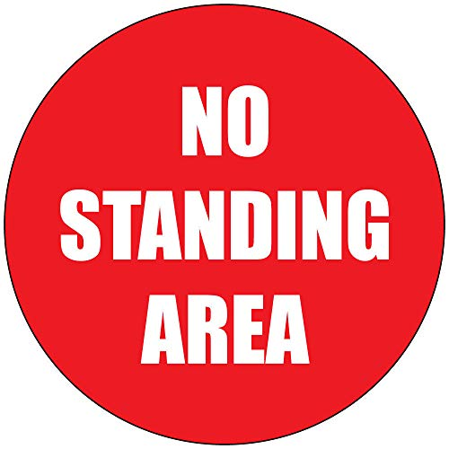 No Standing Area Red Sticker Decal 8