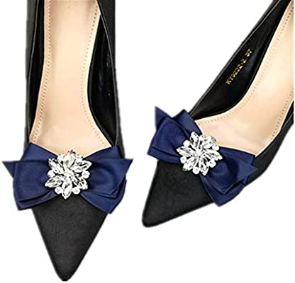 Ribbon Bow Shoe Clips Weddings Bridal Shoes Buckle Clip Party Shoe Charms Red