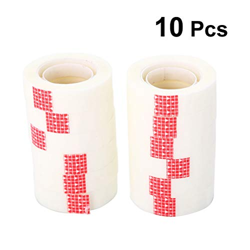 STOBOK 10pcs Office Transparent Tape School Invisible Tape Seamless Tape Wedding Room Party car Layout Tape (Random Label Color)