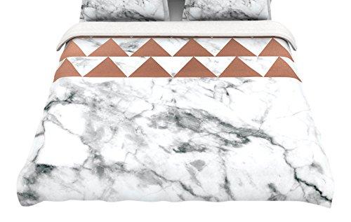 Kess InHouse Kess Original Marble /& Metal King Cotton Duvet Cover 104 x 88 104 x 88