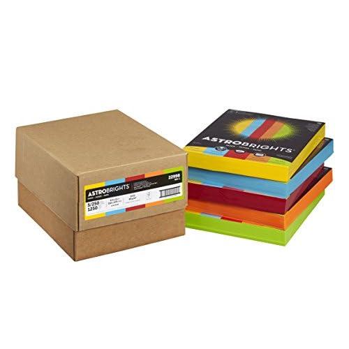 "Discount Astrobrights Color Paper, 8.5"" x 11"", 24 lb/89 gsm, Mixed Carton 5-Color Assortment, 1250 Sheets (22998) free shipping"