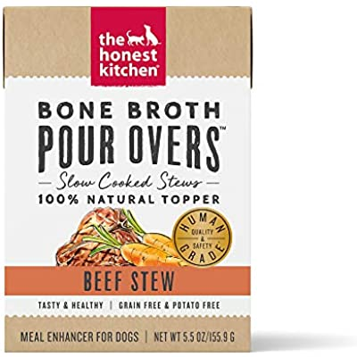 The Honest Kitchen Bone Broth POUR OVERS - Wet Toppers for Dogs