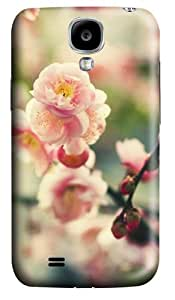 Pink Tree Flower Custom Samsung Galaxy I9500/Samsung Galaxy S4 Case Cover Polycarbonate 3D