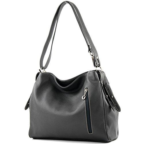 Modamoda Gray Shoulder T119 De Leather Case Ital Anthracite Bag F7Frqwf