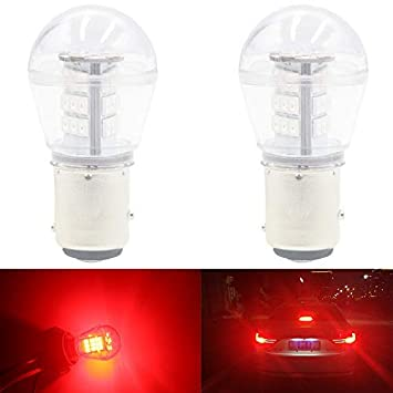 2835 33 SMD Lampadine di Ricambio per Interni RV Camper Tail Back Up Reverse Bulbs Day Running Light AMAZENAR 2-Pack 1157 BAY15D 1016 1034 7528 2057 2357 LED a Luce Bianca 9-30V-DC