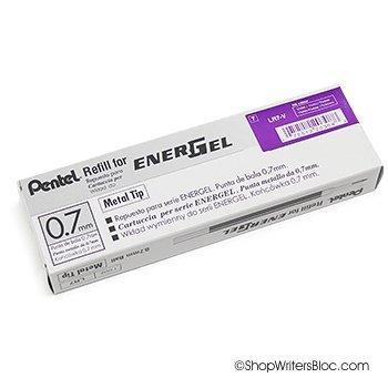 Pentel LR7-V Refills for EnerGel Gel Pen, 0.7mm Metal Tip, V
