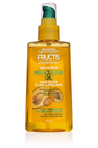Garnier Hair Care Fructis Triple Nutrition Marvelous Oil Hair Elixir, 5.09