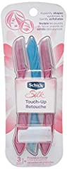 The Schick Silk Touch Up razor is a great multipurpose beauty tool that expertly shape eyebrows, remove fine hairs, and also gently exfoliates.  It is designed with fine micro guards on the blade to help protect skin.  The set includes 3 razo...
