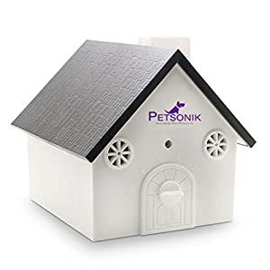 Petsonik Ultrasonic Dog Barking Control Devices in Birdhouse Shape Outdoor Bark Box, Includes Free E-Book on Tips | Instantly Regain Your Peace of Mind – No Harm to Dog | Upgraded Version