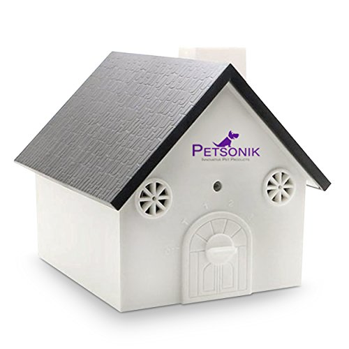 - Petsonik Ultrasonic Dog Barking Control Devices in Birdhouse Shape Outdoor Bark Box, Includes Free E-Book on Tips | Instantly Regain Your Peace of Mind - No Harm to Dog | Upgraded Version