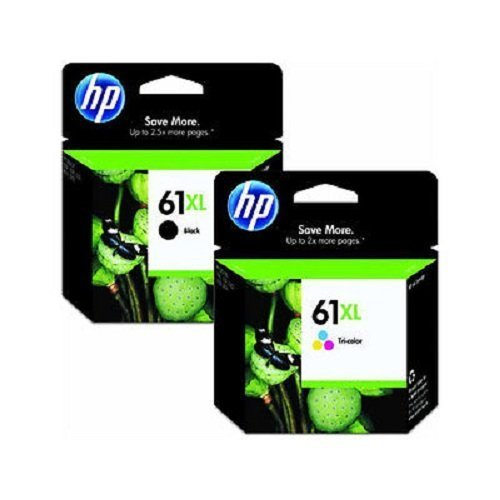 HP 61XL Black (480 Yield) & 61XL Tri-Color (330 Yield) Ink Cartridges Sealed In Two Separate Retail packaging