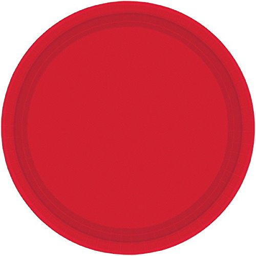 Apple Red Plastic Plates. 8 Ct. | Party -