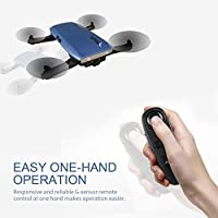 Noiposi JJR/C H47 Elfie Foldable Selfie Pocket Drone Gravity Sensor Mode One hand Remote Control Mini Quadcopter with 2.0MP 720 HD Camera from Noiposi