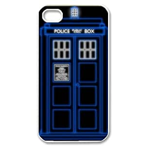 Police Box¡ê?Doctor Who CUSTOM Cover Case for iPhone 4,4S LMc-00963 at LaiMc