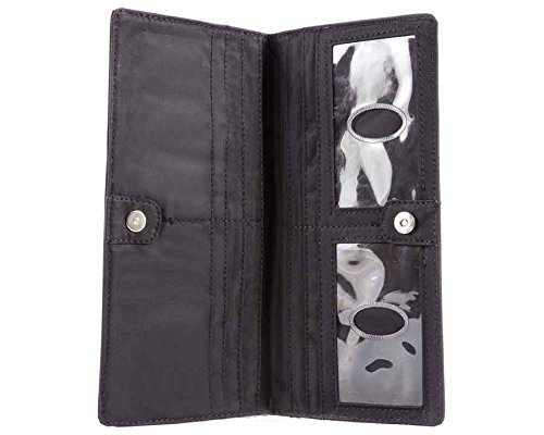 Big Skinny Women's Executive Bi-Fold Checkbook Slim Wallet, Holds Up to 40 Cards, Black by Big Skinny (Image #4)