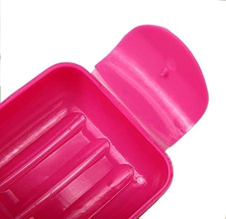 OFKPO 2 St/ück Reisen Seifenschale,Bunte Kunststoff Seifendose Seifenbox Zuf/ällig Farbe