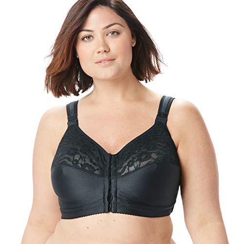 Comfort Choice Women's Plus Size Easy Enhancer Wireless Posture Bra - 54 G, Black
