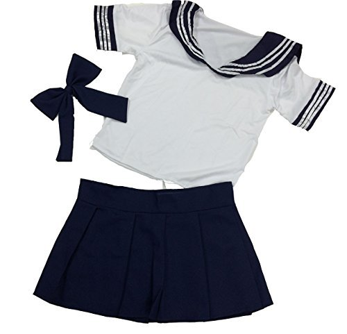 Bryce Fellows [Bliss Fellows] sailor clothes students clothes schoolgirl costume Halloween costumes costume party anime costume party (dark blue)]()
