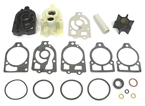 GLM Water Pump Impeller Kit for Mercury 1978-1985 V6 150, 175, 200, 225 Hp Replaces 46-78400A2, 18-3316 Read Product Description for Exact Applications ()