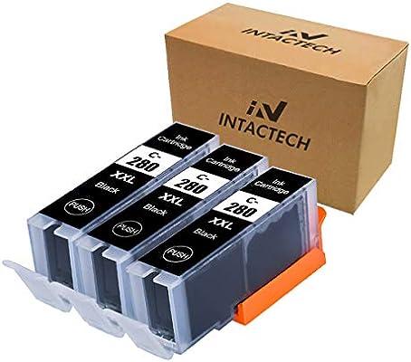 Amazon.com: Intactech - Juego de 3 cartuchos de tinta negra ...