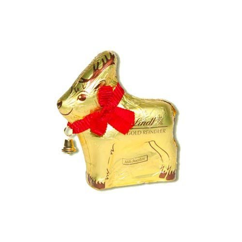 Chocolate Reindeer - Lindt & Sprungli Pack Of 2 Lindt Chocolates Gold Reindeer