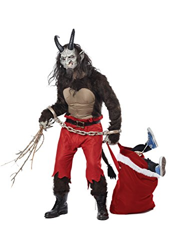California Costumes Men's Krampus the Christmas Demon, Brown/Red, Medium