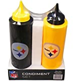 NFL Pittsburgh Steelers Condiment Set (2-Piece), 12-Ounce, Multi-Color
