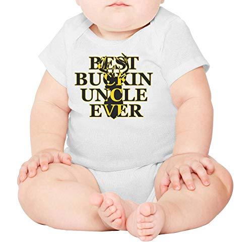 LUnBa Best Buckin' Uncle Ever Deer Hunting Gift Baby Onesies White Clothing Short Sleeve Cotton Summer