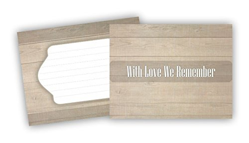My Special Memories Celebration of Life Funeral Memorial Cards (Set of 25, Modern Wood, 5.5