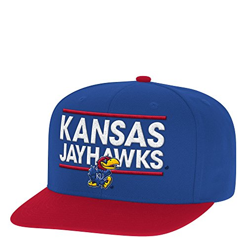 adidas NCAA Kansas Jayhawks Adult Men Dassler Flat Brim Snapback, One Size, Royal