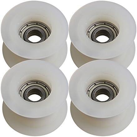 BQLZR - Polea de rodamiento de bolas tipo H con revestimiento POM, 5 x 23 x 13,5 mm, para muebles, ventanas, puertas, correderas, paquete de 4: Amazon.es: Bricolaje y herramientas