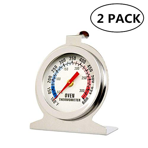 (Oven Thermometer JSDOIN Classic Series Large Dial Thermometer display shows marked temperatures for Professional and Home Kitchens Cooking)