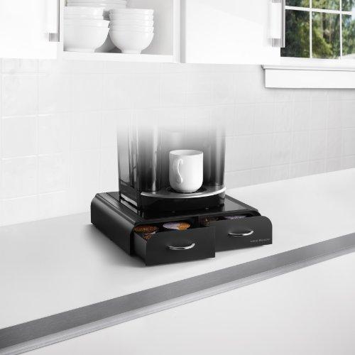 "-[ Mind Reader ""Anchor""Coffee Pod Storage Drawer for Tassimo T-Discs ,Vertuoline Nespress"