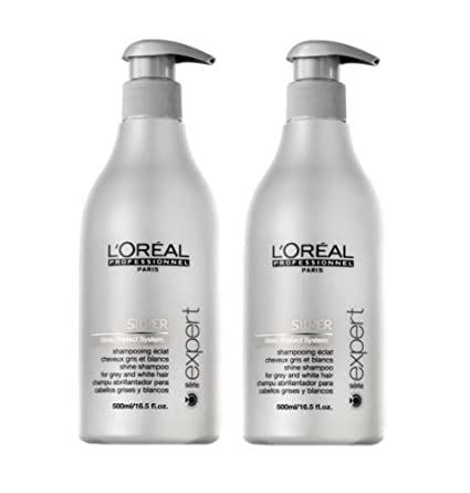 Loreal Silver Glanz-Shampoo + Pumpe 2 x 500 ml Serie Expert Gloss Protect System by L