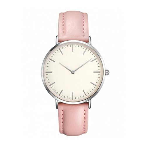 Todaies☞New!2018 Women Casual Simple Quartz Analog Watch Men Band Wrist Watches (Pink)