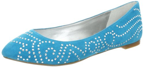 Enzo Angiolini Women's Sahni Suede Ballet Flat,Turquoise Suede,7.5 M US