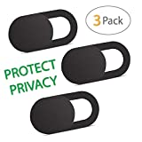 Anti-Spy Webcam Cover [3 Pack], 0.03 inch Ultra Thin Web Camera Cover for Computer, Laptop, iMac, MacBook, iPad, Smartphone, Adhesive, Slider Camera Blocker Protect and Ensure Privacy Sliding Design