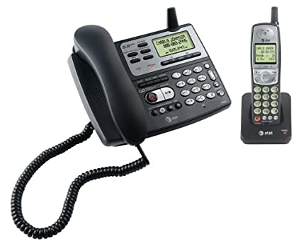 amazon com at t e5827 5 8 ghz corded cordless phone w rh amazon com at&t 5.8 ghz digital phone manual at&t 5.8 ghz digital phone manual