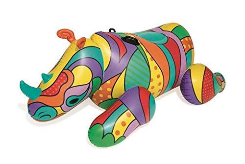 Bestway Vinyl Pop Rhino Pool Float, Multicolor