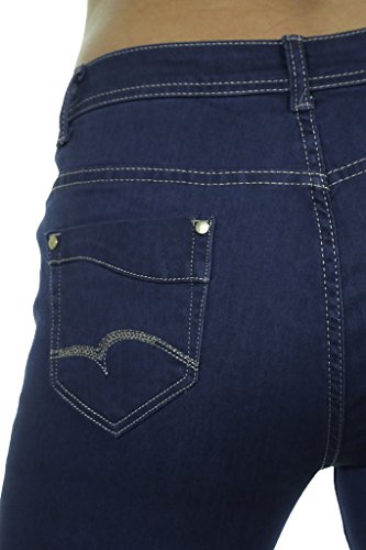 Frontale Denim Con Ice Stretch Indaco Jeans Basso Brillantezza Blu cpqYHS1wa