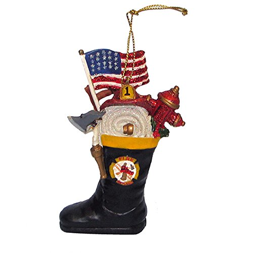 Kurt Adler Firefighter's Boot Christmas Ornament