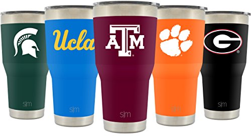 Simple Modern Texas A&M University 30oz Cruiser Tumbler - Vacuum Insulated Stainless Steel Travel Mug - TAMU Aggies Gig Em Tailgating Hydro Cup College Flask - University Color
