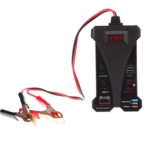12V Digitale Batteria Tester Voltmetro LED Sistema di Ricarica Analizzatore con Clip per Auto Moto Zoloyo Multimetro Voltmetro Amperometro